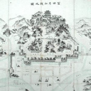 Old drawing of Gassan Toda castle