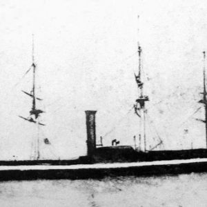The USS Freegate - One of the Black Ships of Commodore Perry on his second visit to Japan
