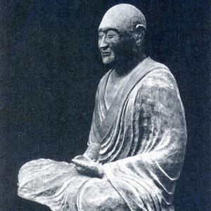 A national treasure statue of Ganjin that is still kept at Toshodai-ji Temple in Nara Japan