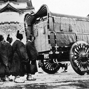 Jisha or imperial hearse for the funeral of Emperor Taishō