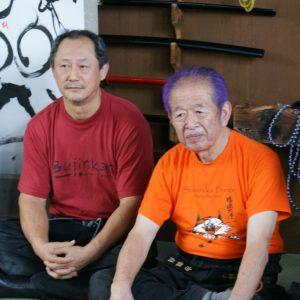 Shinden Fudo Ryu Grandmatsers Hatsumi Masaaki Sensei (R) and Nagato Toshiro Sensei (L)