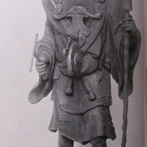The monk Kuya - The nembutsu, na-mu-a-mi-da-butsu, are represented by six small figures of Amida streaming from his mouth