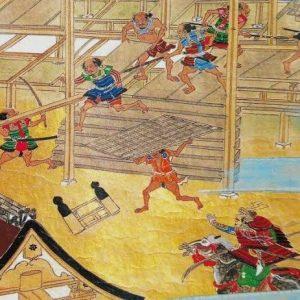 Ashigaru pillaging and looting
