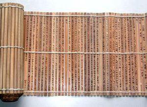 Rikuto on a bamboo scroll