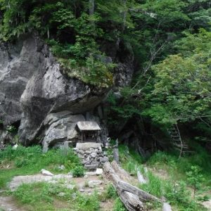 Shrine on Komagaoka Mountain in the land of Kai where Takeda Shingen would recruit shugenja as shinobi warriors