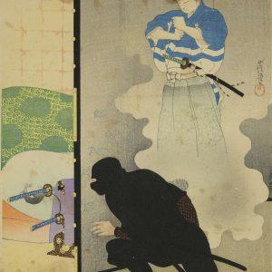 a shinobi sneaks into the enemy's castle
