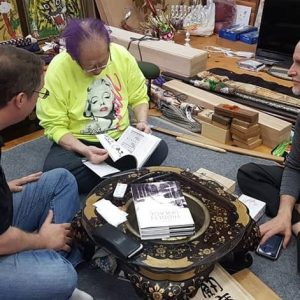 Going over the finished product with Soke and my old friend Paul Masse