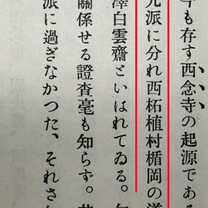 Passage from Shinpen Iga Chishi - Showing Tateoka Dojun as a leader of the Iga shinobi households and Tozawa Hakuunsai as being the head of the Koga households, along with a few households in Iga